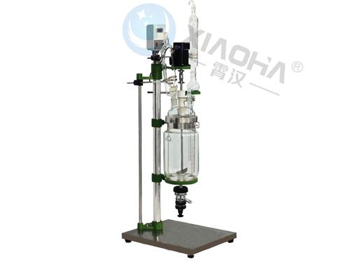 太仓小容量双层玻璃反应釜